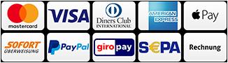 Zahlungsarten auf confidero.com